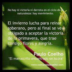 Bienvenida a la primavera  -  Paulo Coelho