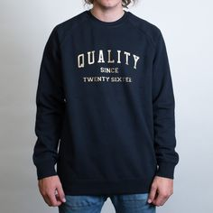 AS Colour Box Crewneck Leavers Gear - The Print Room NZ - Navy