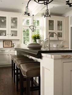 Walnut mixed with marble!  Love it!!!