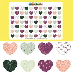 New heart planner stickers!!! ❤