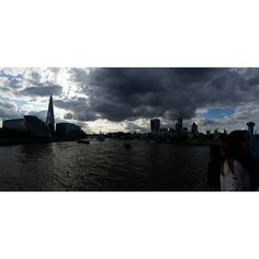 London baby! #London #tower #shard #theshard #thames #thamesriver #towerbridge #towerhill #cloudy #cloudysky #dark #England #nocrop #panorama by helene_kopenhagen