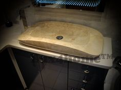 Natural stone Sink / Vanity Sink model: IDS003 producer: Lux4home™ sizes: 70 x 35 x 10 cm
