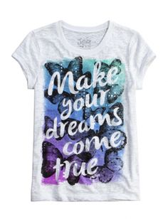 Justice-Girls Make Dreams Come True Graphic Tee