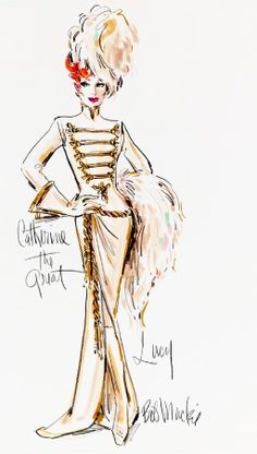 "Costume Design by Bob Mackie for Lucille Ball, ""Catherine The Great"" on the ""Carol Burnett Show"""