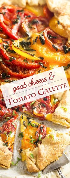This savory tomato galette is a rustic tart in the French tradition, full of juicy, sweet heirloom tomatoes and creamy goat cheese and then folded into a simple pastry crust. Asian Recipes, Mexican Food Recipes, Healthy Recipes, Ethnic Recipes, Healthy Food, French Vegetarian Recipes, Gallette Recipe, French Appetizers, French Dishes