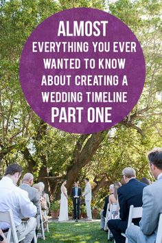 A Practical Wedding: Creating a Wedding Timeline from Lowe House Events. YEEEES.