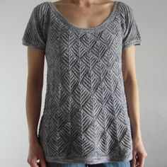Beautiful Entrelac top from Ravelry! The Carp by u22grumpy, via Flickr