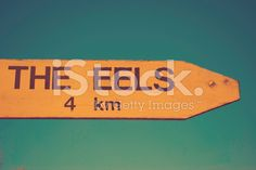 An AA Road Signpost points the way to where the Eels live in the. Image Now, Filters, Royalty Free Stock Photos, Signs, Retro, Photography, Photograph, Shop Signs, Fotografie
