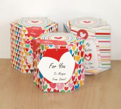 Valentine's Day Party Favor Boxes - Printable DIY by PixieBearParty on Etsy