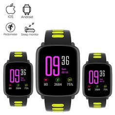Mindkoo GV68 Heart Rate Monitor Smart Watch IP68 Waterproof sport Smartwatch for IOS Android Phone pk kw88 k88h wearable devices //Price: $47.47//     #onlineshop
