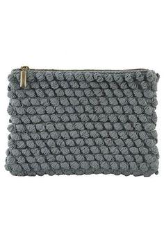 Lækker pung i fin gråblå farve - Tofted pung fra Housedoctor - Cool clutch til 279,-