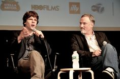 David Fincher and Jesse Eisenberg