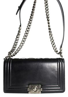 91d672d4d84e Boy Medium In Calfskin Black Shoulder Bag. Tradesy