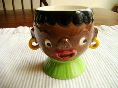 Vintage Black Americana egg cup By W Goebel  W. Germany