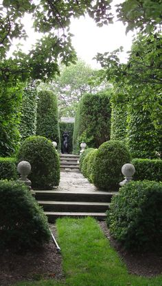 Photo by Oscar de la Renta of his gardens in Kent, Connecticut.