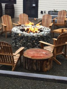Fire pit outside woodinville whiskey