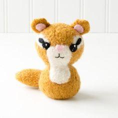 Backyard Critters 2: Skunk, Chipmunk, Bear Felted Knit Amigurumi Pattern, 4 inch