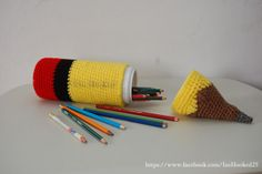 free crochet pencil case pattern