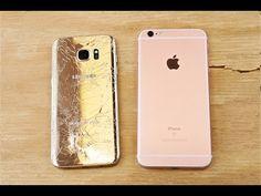 iPhone 6s Plus vs. Galaxy S7 Edge: test de caída [Vídeo] - http://www.actualidadiphone.com/iphone-6s-plus-vs-galaxy-s7-edge-test-de-caida/