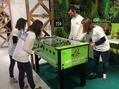 Sfide al biliardino, nello stand #Anteas #Expo2015 #CascinaTriulza #ricreiamoinsieme