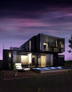 imagem (26)House made with container opened by panels