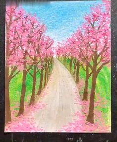 Art Drawings Beautiful, Art Drawings For Kids, Art Drawings Sketches Simple, Oil Pastel Drawings Easy, Oil Pastel Art, Oil Pastels, Pencil Art Drawings, Diy Canvas Art, Drawing Techniques