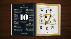 Editorialdesign Wir sind Werbung – 20 Jahre OWM / W&V 46/2015 / #layout #editorial #design #wuv #3d #c4d #illustration #owm