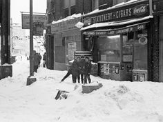 The blizzard of 1978. Brooklyn, New York