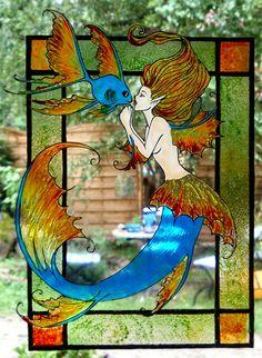 mermaid window cling