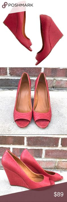 Madewell Snakecharmer Peeptoe Wedge Madewell Snakecharmer Peeptoe Wedge -Size 7.5 -Leather Upper. -Made in Italy. -Excellent condition. Two tiny scuffs at bottom of heel.  NO Trades. Please make all offers through offer button. Madewell Shoes