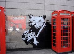Banksy: Click on this site to see Banksy's awesome street art!