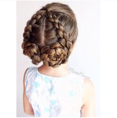 Dutch braided updo. Can do this the other way and make a heart instead