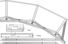 A very versatile and scaleable bridge design for spans from 1 to . Framing Construction, Bridge Construction, Outdoor Projects, Wood Projects, Woodworking Plans, Woodworking Projects, Bridge Drawing, Timber Structure, Bridge Design