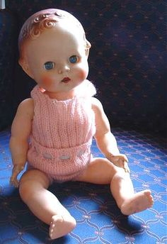 1950s Pedigree baby doll I have lots of dolly knitting patterns to dress this pretty doll