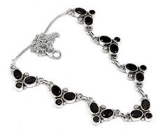 Amazing 925 sterling silver Faceted Black Onyx