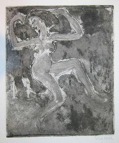 Nolde, Kerzentänzerin (danseuse aux bougies), 1918, eau-forte et aquatinte