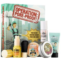 Benefit Cosmetics Operation Pore-Proof Kit from Sephora. Saved to Epic Wishlist. Sephora, Face Care, Skin Care, Makeup Kit, Makeup Products, Beauty Products, Makeup Stuff, Makeup Brands, Beauty Secrets