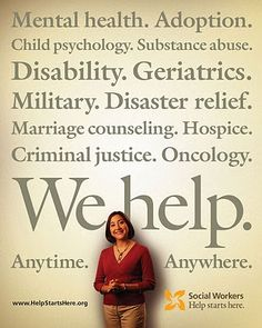 Social Work- Geriatics is my specialty. In fact, I became a Gerontologist with a Master's of Science in Gerontology degree from The University of Indianapolis.