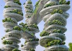 Futuristic Architecture Discover Futuristic Paris Smart City is filled with flourishing green skyscrapers Vincent Callebaut unveils Smart City plan that could green up Paris by 2050 Architecture Durable, Chinese Architecture, Futuristic Architecture, Sustainable Architecture, Amazing Architecture, Landscape Architecture, Architecture Design, Paris Architecture, Sustainable Design
