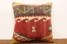 Throw Pillow cover 16 x 16 Vintage kilim pillow by kilimwarehouse, $54.00