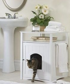 A cat can be a small space dweller's best friend … but a cat's litter box can be a small space dweller's worst nightmare. Tired of ugly litter boxes sitting out in the middle of the room, we decided to get the scoop on stylish, modern litter boxes and enclosures to bring some class to your kitty's dirty business.