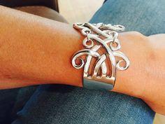 Exquisite Celtic Fork Bracelet by AntiqueTreasuresArt on Etsy