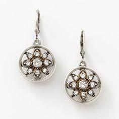 Angelique Earrings - Crystal set in oxidized silver plating. #Swarovski #Earrings