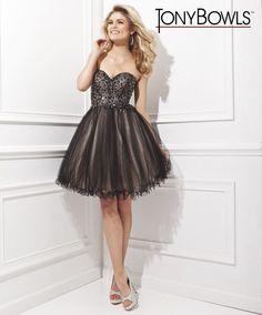 Elegant Strapless Tulle Short Black Dress Sweetheart Neckline Ts21468 Best Prom Dresses, Black Prom Dresses, Formal Dresses, Tony Bowls, Tulle, Elegant, Neckline, Fashion, Black Ball Dresses
