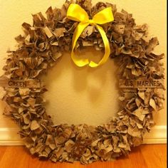 USMC wreath out of Andy's old cammies!