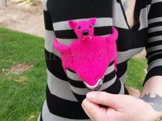 Pink Bat Coin Purse by Th1rte3nsCloset on Etsy