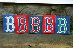 Vintage/Rustic Boston Red Sox Baseball Sign - Choose Your Colors on Etsy, $26.00