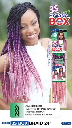 Janet Collection Crochet Box Braids : Image result for janet collection 3s box braid