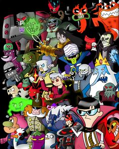 Cartoon Network Villains by CartoonNetworkAdik on DeviantArt Chowder Cartoon Network, Old Cartoon Network, Cartoon Network Characters, Cartoon Network Adventure Time, Free Cartoons, Old Cartoons, Classic Cartoons, Time Cartoon, Cartoon Shows
