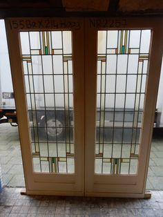Leaded Glass, Stained Glass Windows, Glass Door, Internal French Doors, Glass French Doors, Arts And Crafts Interiors, Glass Cakes, Craftsman Style Homes, Stained Glass Patterns